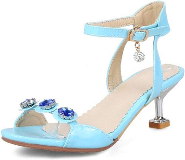 END GAME Women High Heel Sandals Ankle Strap Strange Heels Crystal Women Summer shoes Mature Footwear
