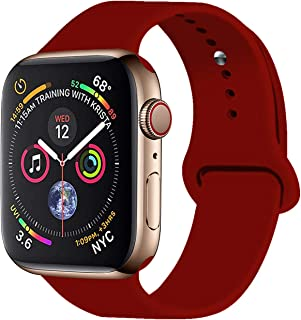 VATI Sport Band Compatible with Apple Watch Band 38mm 42mm 40mm 44mm, Soft Silicone Strap Replacement Bands Compatible with iWatch Series 4, Series 3/2/1 S/M M/L