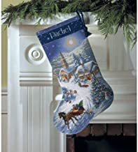 Gold Collection Sleigh Ride At Dusk Stocking Counted Cross -16