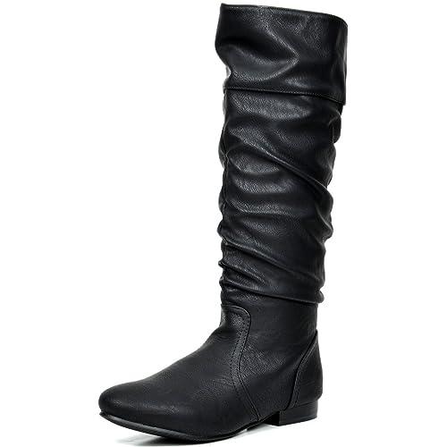 74048faed4f1 DREAM PAIRS Women s BLVD Beltran Knee High Boots (Wide-Calf)