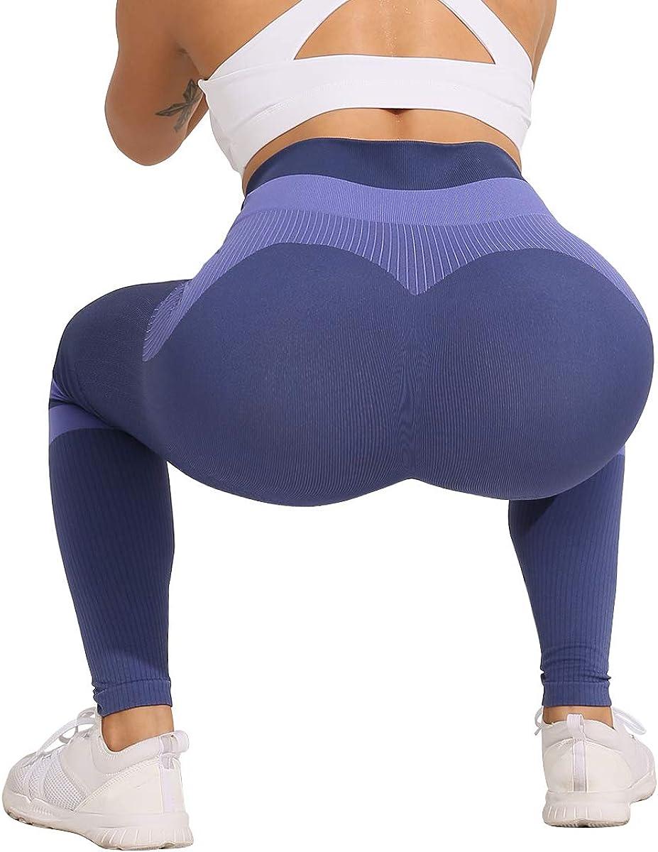 ShinyStar Womens Seamless High Waisted Yoga Leggings Stretch Gym Workout Running Leggings