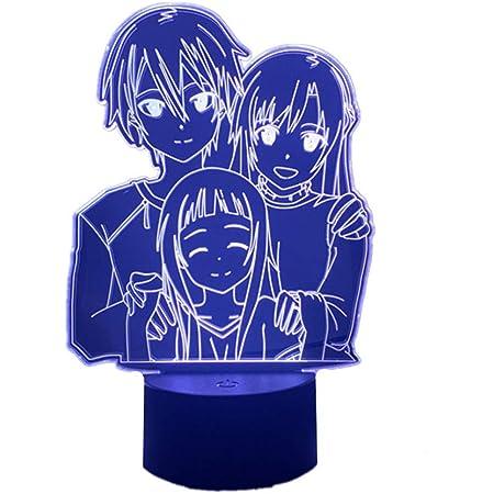 Kirito Kirigaya Asuna Yuuki 3D Led Night Light//Figure RGB Sword Art Online Lamp