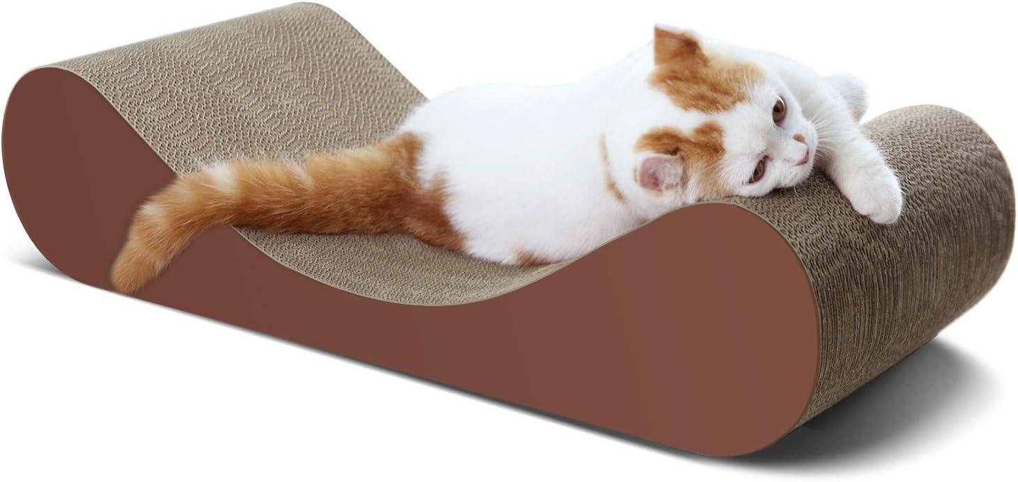 ScratchMe Bone Cat Scratcher Cardboard Lounge Bed, Cat Scratching Post, Durable Board Pads prevents Furniture Damage : Everything Else