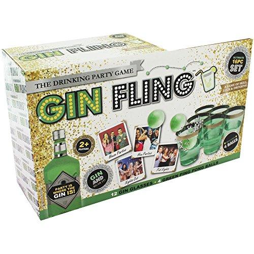 Gin Fling Ping Pong Adulto Beber Juego Navidad Año Nuevo Hen Stag Party Shot Pong