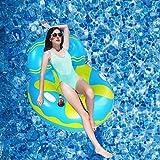Owntop Flotador Inflable para Piscina - Sillón de Piscina, Balsa de Salón Fotante para Niños con Portavasos y Eeposacabezas
