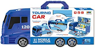 Adventure Toys Toy Medical Kit Pretend Play, 2 in 1 Truck Carrying Case for Kids(21PCS)