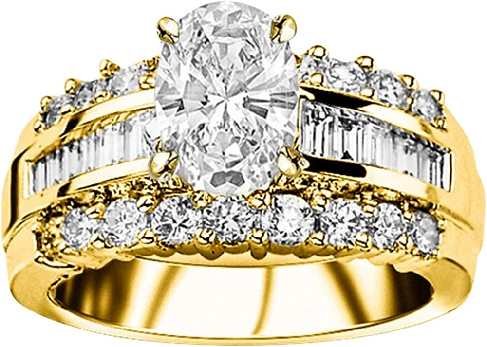 2.5 Ctw Sale SALE% OFF 14K Ranking TOP12 White Gold Channel GIA Certified Baguette Round Desi