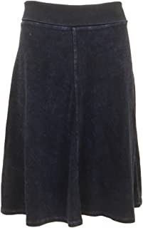 Forever Knee Length A-Line Skirt with Rolldown Waistband Style B-126
