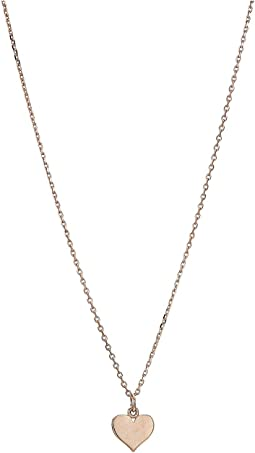 14KT Solid Rose Gold Mini Heart Necklace