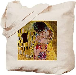 CafePress The Kiss Detail, Gustav Klimt, Vintage Ar Natural Canvas Tote Bag, Cloth Shopping Bag