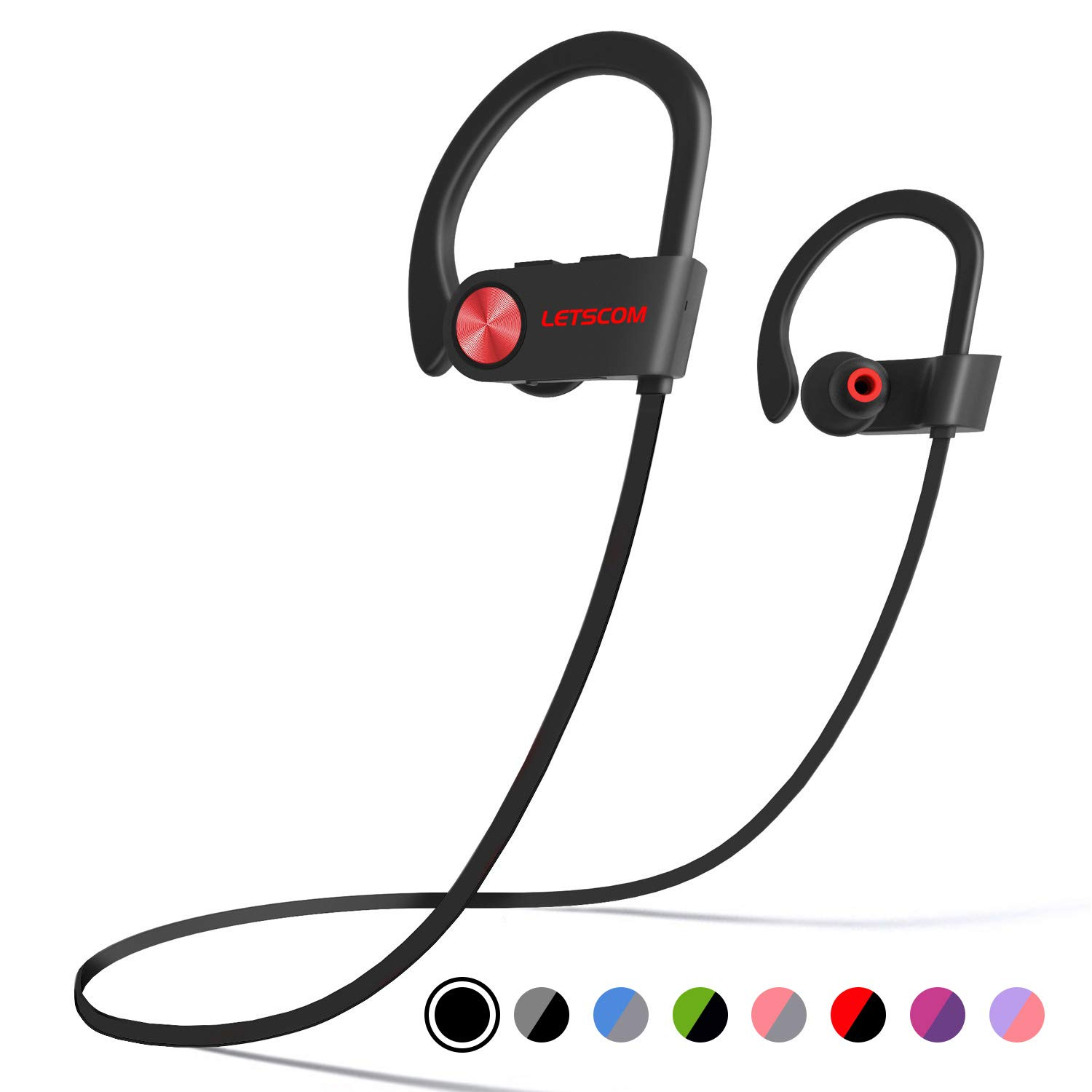 Bluetooth Headphones LETSCOM Waterproof Cancelling