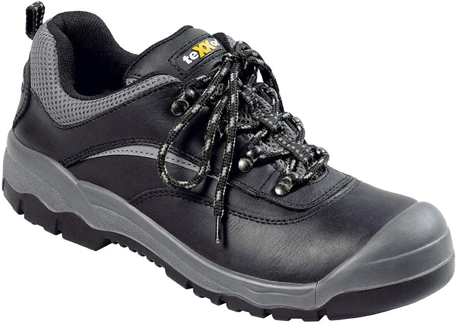 TeXXor 6312-40 Safety shoes  Perpignan  S3, Size 6.5, Black Grey - EN safety certified