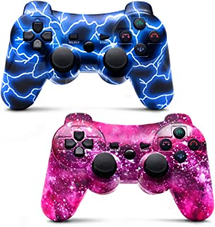 Bowei PS3 Controller Wireless 2 Pack Double Shock Gamepad for Playstation 3 Remotes, Six-Axis Wireless PS3 Controller with...