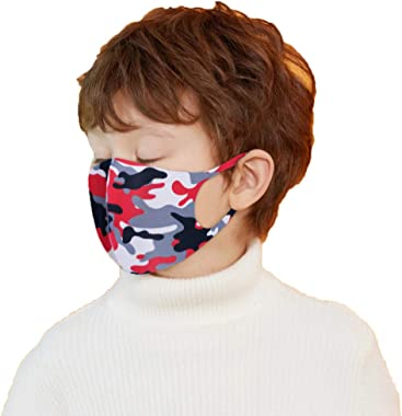 Youdw 1PC Children Cute Camouflage Polyester Face Bandanas, Reusable Washable Cloth for Outdoor Cycling Sport, Hiking and Tra