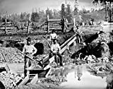 Gold Miners C1850 Nprospectors Posing At Their Sluice Box Daugerreotype Probably California C1850 Poster Print by (18 x 24)