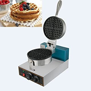 Waffle Maker, Vinmax Professional 110V Electric Egg Cake Oven Puff Bread Maker, Comercial Stainless Steel Nonstick Waffle Bake Machine - Temperature Control