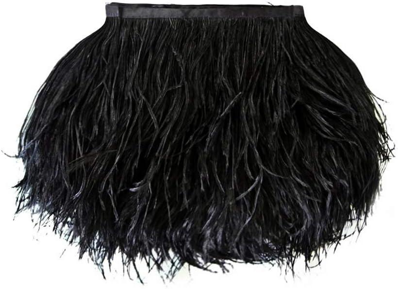 Moonlight Feather 1 Yard - Ostrich Wholesale Trim Fringe service Rapid rise Black