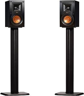 ECHOGEAR Bookshelf Speaker Stand Pair - Heavy Duty MDF Energy-Absorbing Design - Works with Klipsch, Polk, JBL & Other Boo...