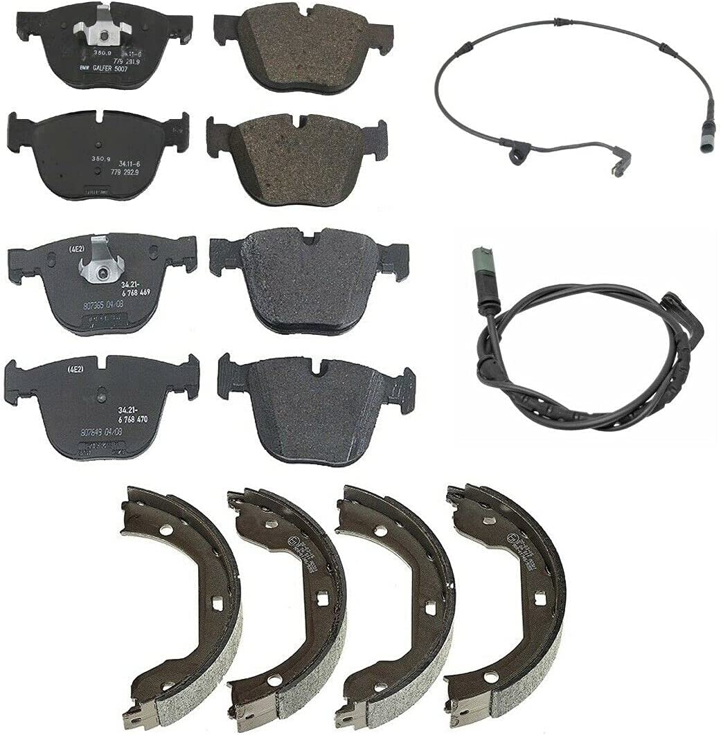 Front Rear Brake Max 89% OFF kit Pads Sensors NEW Shoes Parking Compatible wit