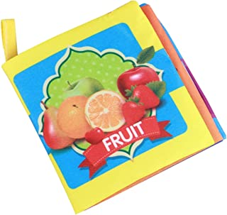NUOBESTY Early Learning Book Soft Cloth Fruit Word Books Baby First Book Early Educational Toys For Toddlers Infant Presch...