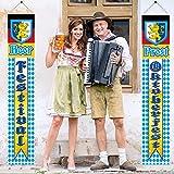 Oktoberfest Dekorationen Deutsche Bayerische Flagge Oktoberfest Banner für Deutschland Partyzubehör Wohnkultur drinnen & draußen