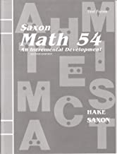 Saxon Math 54: An Incremental Development (Masters and Test Forms Booklet)