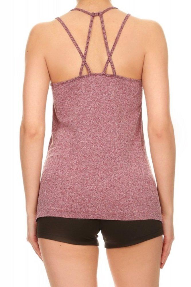 ShoSho 女式运动装背心工字背干贴身压缩瑜伽运动服