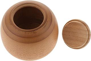 gazechimp 茶缶 茶筒 密封茶容器 茶の葉収納缶 竹製 茶入れ 防湿保存容器 密封性 収納 貯蔵用 砂糖 コーヒー 全7サイズ - 約11.5 x 10.5 cm / 4.53 x 4.13インチ
