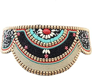 Idealway Retro Charms Ethnic Beaded Elastic Stretch Adjustable Belt Waist Belly Chain Body Jewelry