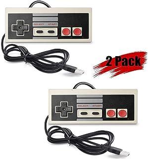 DOORGA 2 Packs 5.8 feet Classic USB Wired Controller for NES Gaming, Retro Game Pad Joystick Raspberry Pi Gamepad for Windows PC Mac Linux RetroPie NES Emulators (Gray and Gra