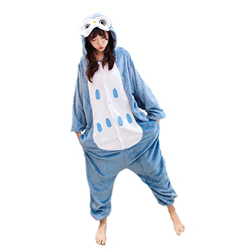 fff60aa30d MizHome Owl Bird Deluxe Party Costume One-Piece Jampsuit Pajamas