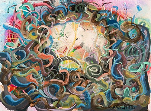 Planetarium V Original Handmade Abstrakte Malerei