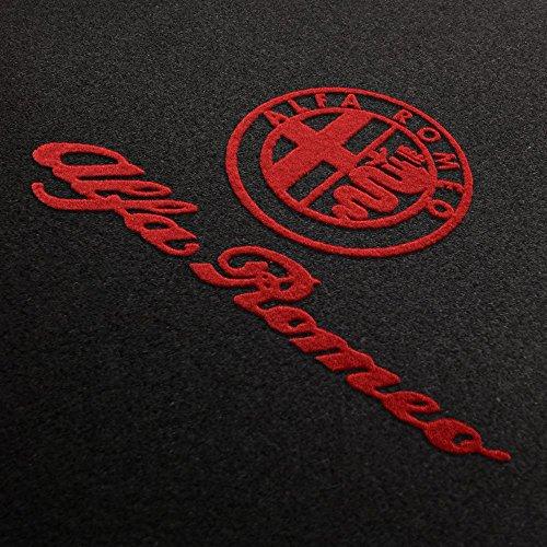 Autoteppich Stylers Fußmatten aus Nadelfilz mit Druck Logo+Schrift Q100_ALFA-L+S-103_Alfa_003