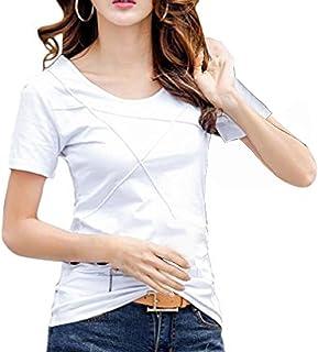 (ライズオンフリーク)RISEONFLEEK シンプル Tシャツ トップス カットソー 半袖 レディース 着回し 無地