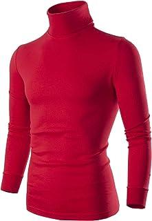 SERHOM Mens Turtleneck Sweater Long Sleeve Mock Turtleneck Men Shirts S M L XL 2XL 3XL 4X