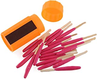 Storm-proof Matches with Waterproof Case Survival Emergency Matches Portable Extra-large Head Windproof Matches Storm-proof Matches Kit Waterproof Matches Strikers for Outdoor Equipment Hiking Camping