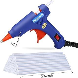 Pistola de pegamento caliente Blusmart, 20W de alta temperatura, 30 piezas de pegamento