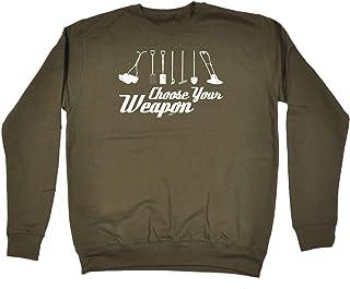 123t Funny Novelty Funny Sweatshirt - Gardening Choose Weapon - Sweater Jumper