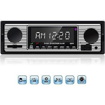 TOWOTO カーオーディオ Bluetooth対応 カーステレオ MP3プレーヤー FMラジオプレーヤー ハンズフリー通話サポート AUX/USB/SD端子搭載 スマホに充電可能 1din 12V車用