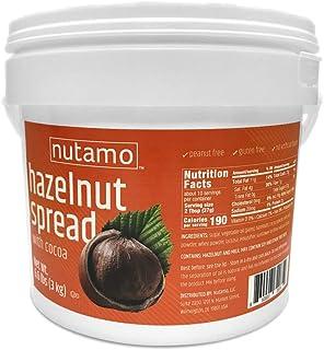 Nutamo Hazelnut Spread with Cocoa, All Natural Non-GMO No Peanut Gluten Free Topping, 6.6 Lb Tub Bulk