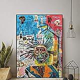 HNZKly Vogue Retro Poster Street Graffiti Wall Art Prints Jean Michel Basquiat Pintura Street Art Canvas Poster Graffiti Poster Living Room Bedroom Decor 30x40cm / Unframed U2