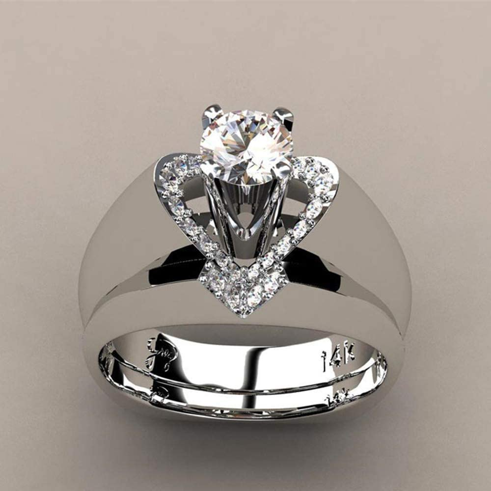 BPOF99 Diamond Rings for Women Max 69% OFF Sterli Fashion Sales for sale Delicate 925