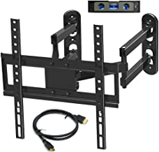 Everstone Corner TV Wall Mount for 26-50 Inch LED,LCD,Plasma Flat Screen,Curved Screen TV Articulating Brackets Tilt, Swivel, Full Motion