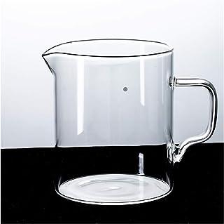WEIXIAO WLKH Coupe de Verre Simple Coupe de café Pot Pot Café Double Verre Cafeter Filtre Coupe Art Enconnaissement Réutil...