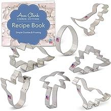 Ann Clark Cookie Cutters 7-Piece Dinosaurs Cookie Cutter Set with Recipe Booklet, T-Rex, Brontosaurus, Stegosaurus, Dinosa...