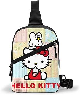 Hdadwy Cartoon Anime Cute Hello Cat Sling Bag para Hombres, Mujeres, Paquetes de Viaje, Mochila en el Pecho, bandoleras, b...