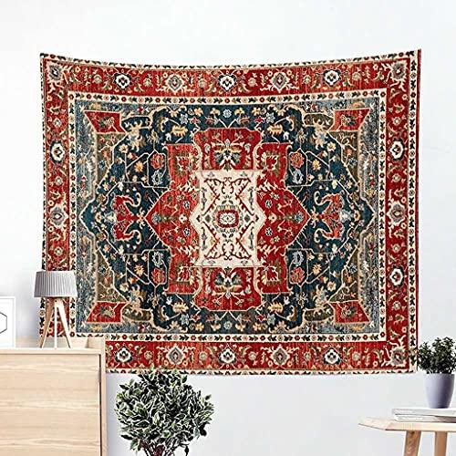 SINERT tapizMandala Rojo Gris Tapiz Oriental Oriental Persa Textil patrón Tapiz Colgante de Pared Tapiz psicodélico decoración Dormitorio