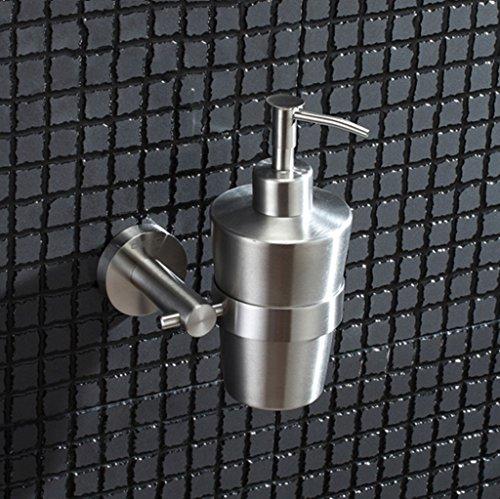 JXXDDQ Marco de Acero Inoxidable jabón Gel de Ducha Botella Pared de Espuma a Mano for Lavar Botellas de líquidos