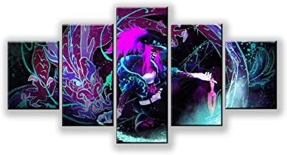 Wall art canvas painting modular 5 panel KDA splash picture print living room decoration poster living room