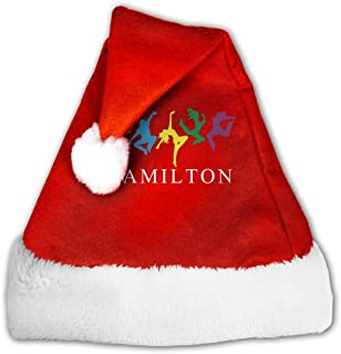 BAGR Unisex Christmas Santa Hat for Holiday Party Events Musicals Hamilton Dancing Cap for Adults Kids Dog Pets